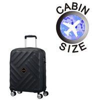 American tourister by samsonite Mała walizka american tourister 21g crystal glow czarna - czarny