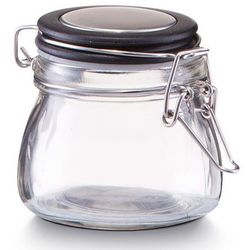 Pojemnik na przyprawy, słoik z pokrywką, 125 ml - kolor czarny, ZELLER