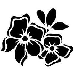 Szablon malarski, wielorazowy, wzór flora 174 - Kwiaty