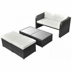 Wypoczynkowy zestaw mebli ogrodowych aiden - czarny marki Producent: elior