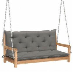 Drewniana huśtawka z szarą poduszką - paloma 2x marki Elior