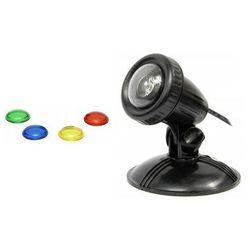 AQUA NOVA Wodoodporna lampa LED 1x1W 12V szkiełka kolorowe - DARMOWA DOSTAWA OD 95 ZŁ!