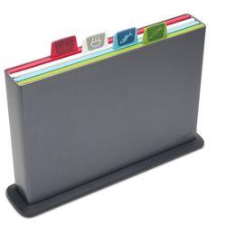 - index new zestaw desek do krojenia duży grafit ilość elementów: 4 marki Joseph joseph