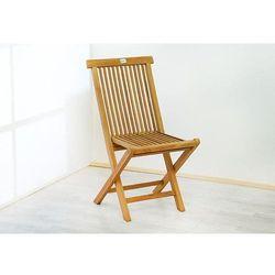 Składane krzesła DIVERO z drewna tekowego 2 szt.