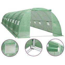 Vidaxl szklarnia ogrodowa, stalowa rama, 32 m², 8x4x2 m (8719883796239)