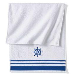 Ręczniki z motywem koła sterowego niebieski marki Bonprix