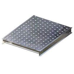 Stół kulowy, wys. konstrukcji 110 mm, szer. przenośnika 750 mm, dł. 1000 mm, pod