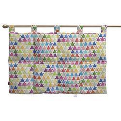 wezgłowie na szelkach, kolorowe trójkąty na białym tle, 90 x 67 cm, new art marki Dekoria