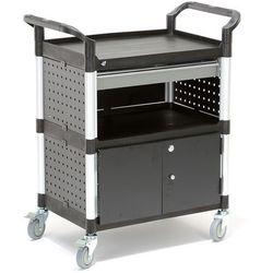 Wózek narzędziowy z szafką i szufladą, 2 półki, 850x480x1000 mm marki Aj produkty