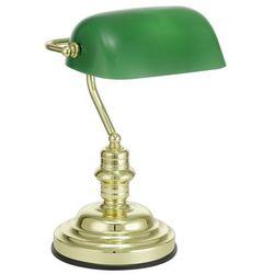 Eglo Lampa stołowa 90967, e27, 1 x 60 w, 230 v, (sxw) 27.5 cm x 39 cm, mosiądz, zielony (9002759909673)