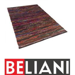 Beliani Dywan wielokolorowo-czarny bawełniany 140x200 cm bartin (7081451341457)