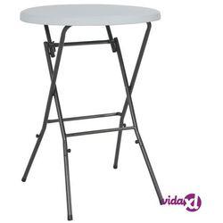 vidaXL Składany stolik barowy, HDPE, 80 x 110 cm, biały (8718475623649)