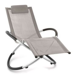 Blumfeldt chilly billy leżak ogrodowy leżak relaksacyjny aluminium szarobrązowy (4260414896569)