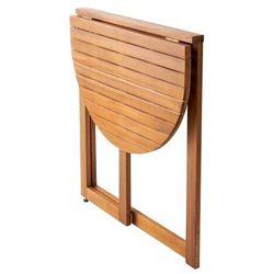 Goodhome Stół półokrągły virginia 70 cm