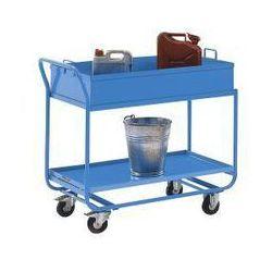 Wózek stołowy, z wanną, zdejmowaną, jasnoniebieski. z olejo- i wodoszczelnym spa marki Eurokraft active green