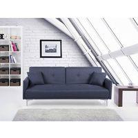 Sofa z funkcją spania szaroniebieska - kanapa rozkładana - wersalka - lucan marki Beliani