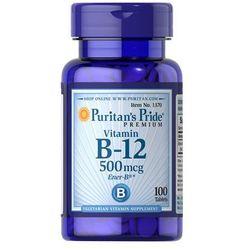 WITAMINA B-12 500mcg 100 tabletek PURITAN'S PRIDE (artykuł z kategorii Witaminy i minerały)