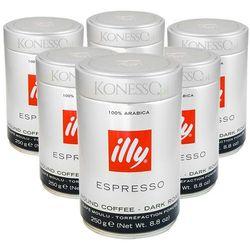 6x illy Espresso Black 250g - kawa mielona (kawa)