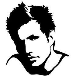 Szabloneria Szablon malarski, wielorazowy, wzór sylwetka 11 - twarz męska