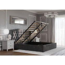 Łóżko 140x200 tapicerowane treviso + pojemnik szare welur marki Big meble