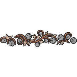 Wieszak ścienny flowers  terakota marki Calleadesign