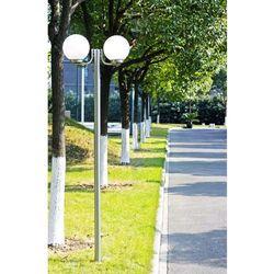 Lampa, latarnia ogrodowa, stojąca (220 cm) z dwoma kloszami marki Vidaxl