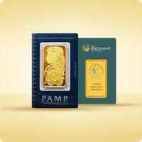 100 g sztabka złota certicard - 15 dni roboczych marki Pamp, perth mint, argor-heraeus
