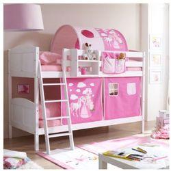 Ticaa kindermöbel Ticaa łóżko piętrowe erni country konik białe drewno sosnowe kolor różowy (4250393872265)