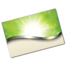 Deska kuchenna duża szklana Zielona abstrakcja