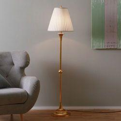 Stylowa lampa stojąca DONATA z plisowanym abażurem