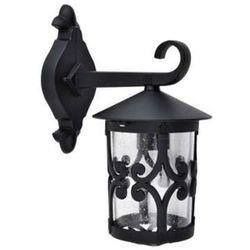 Zewnętrzna lampa elewacyjna palma 8415  metalowa oprawa ścienna klasyczny kinkiet do ogrodu ip23 outdoor czarny marki Rabalux