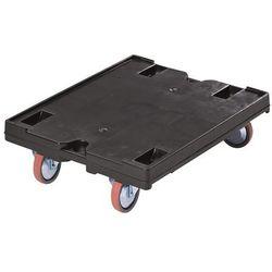 Wózek transportowy, 800x600 mm, nośność 500 kg, czarny, od 5 szt. z polipropylen marki Unbekannt