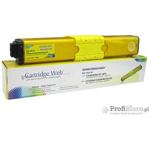 Cartridge web Toner cw-o510yn yellow do drukarek oki (zamiennik oki 44469722) [5k] (4714123962317)