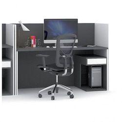 Zestaw stołu z regulacją wysokości ze ściankami działowymi, biały/grafitowy marki B2b partner