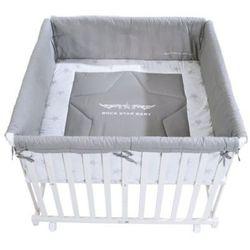 Roba kojec 100 x 100 cm biały rock star baby (4005317281582)