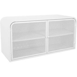 Metalowa szafka z 4 półkami alexy, uniwersalna, niska - kolor biały marki Atmosphera créateur d'intér