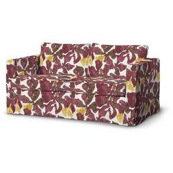 Dekoria Pokrowiec na sofę Karlstad 2-osobową nierozkładaną długi, żółto-brązowe kwiaty, Sofa Karlstad 2-osobowa, Wyprzedaż do -30%