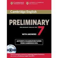 Cambridge English Preliminary PET 7 with answers and CD, Cambridge University Press
