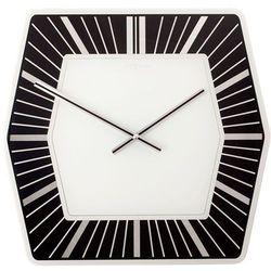 Zegar ścienny Nextime Hexagone czarny, kolor czarny