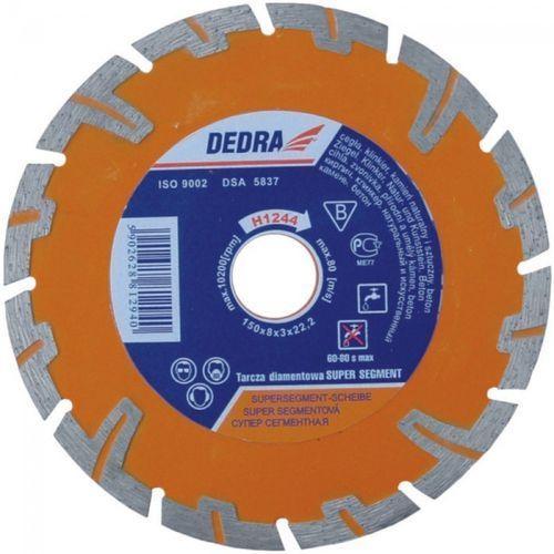 Tarcza do cięcia DEDRA H1244 150 x 22.2 mm do betonu Super-segment (tarcza do cięcia)