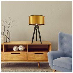 Drewniana lampka nocna z abażurem saba mirror marki Lysne