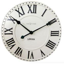 Nextime:: Zegar Ścienny London Roman ø 34,5 cm Kremowy