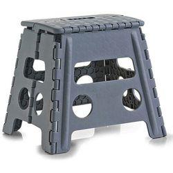 Zeller Składany stołek, antypoślizgowy - kolor ciemnoszary,