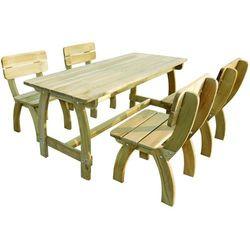 vidaXL Meble ogrodowe 5 elementów Drewno sosnowe