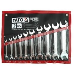 Zestaw kluczy płaskich YATO YT-0380 6 - 27 mm (10 elementów)