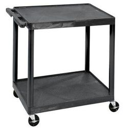 Seco Wózek uniwersalny multi, dł. x szer. x wys. 890x610x880 mm, 2 piętra, czarny. od