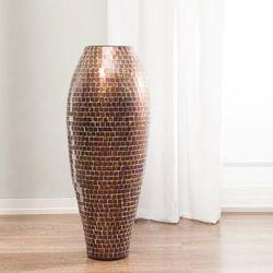 Dekoria Wazon Suri brązowo-złoty, 97 cm, 97cm