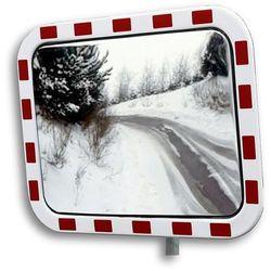 Lustro drogowe ze szkła akrylowego, prostokątna, wym. lustra: szer. x wys. 800x6 marki Unbekannt