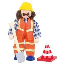 Postać do teatrzyku - pracownik drogowy z kategorii pacynki i kukiełki