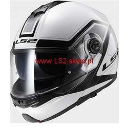KASK MOTOCYKLOWY LS2 SZCZĘKOWY FF325 STROBE CIVIK WHITE BLACK - kolor Biało-Czarny ze sklepu LS2.sklep